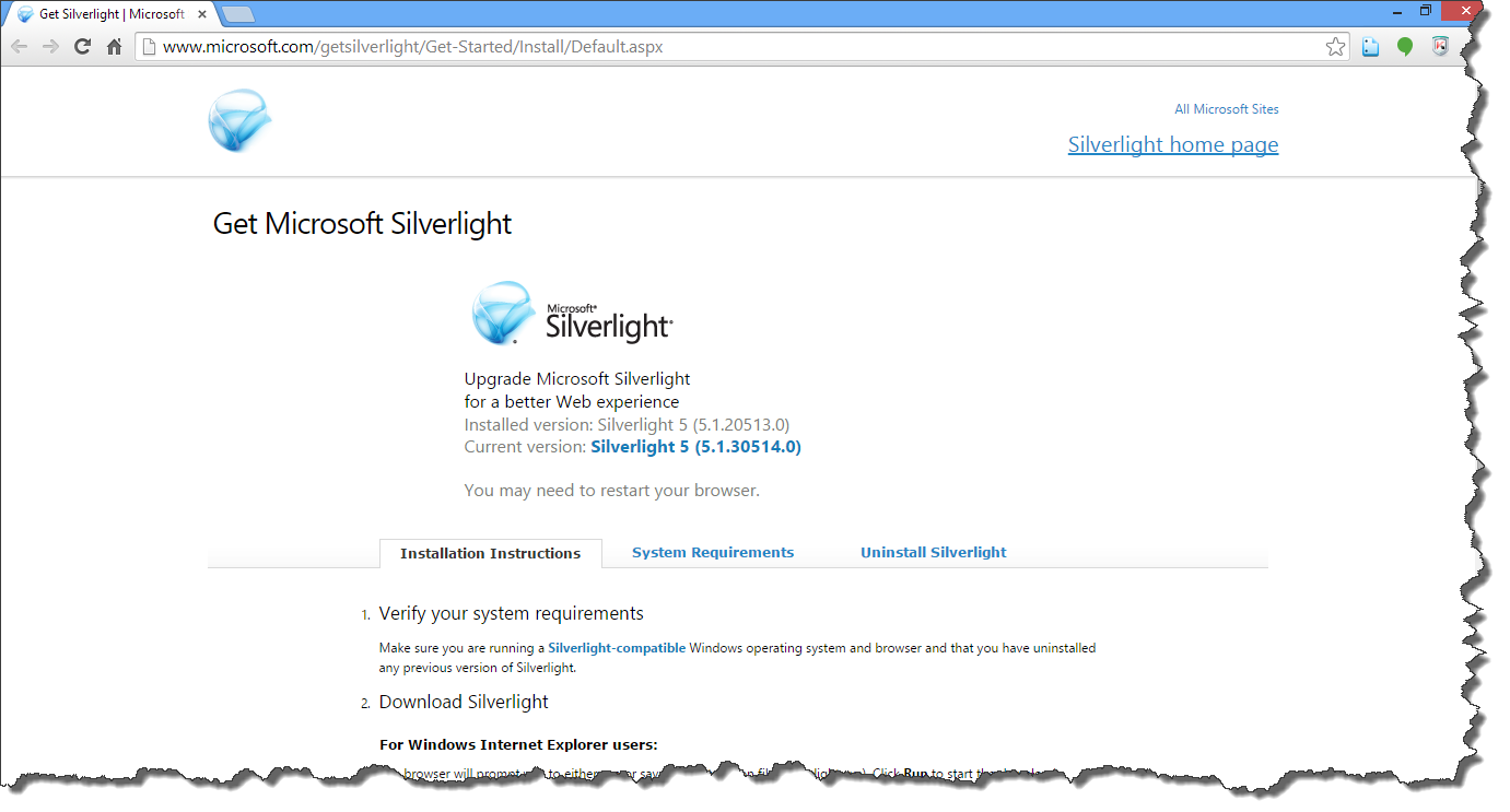Downloading silverlight for netflix.